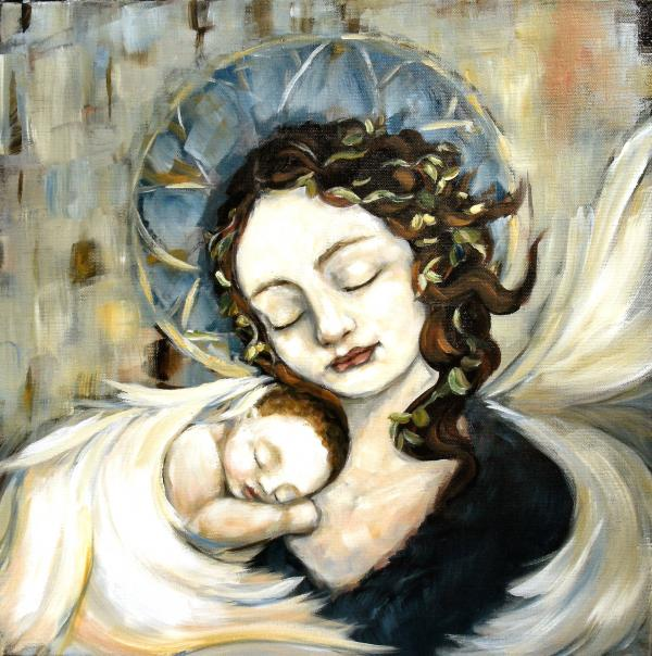 Carrie Joy Byrnes - Angel and Baby