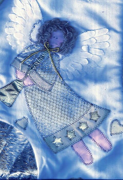 Angel Blue Print by Anne-Elizabeth Whiteway