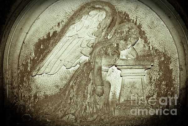 Angel In Grief Print by Yurix Sardinelly