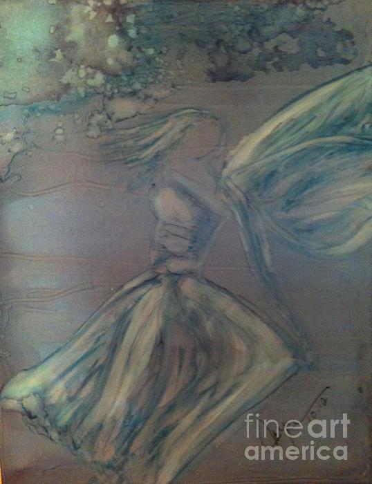 Angel In Wind Print by Joyce Auteri