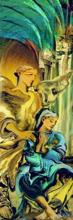 Angel Of Mercy Print by Anne Weirich