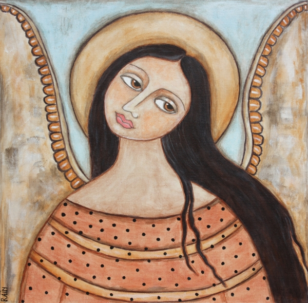 Angel Of Silence Print by Rain Ririn
