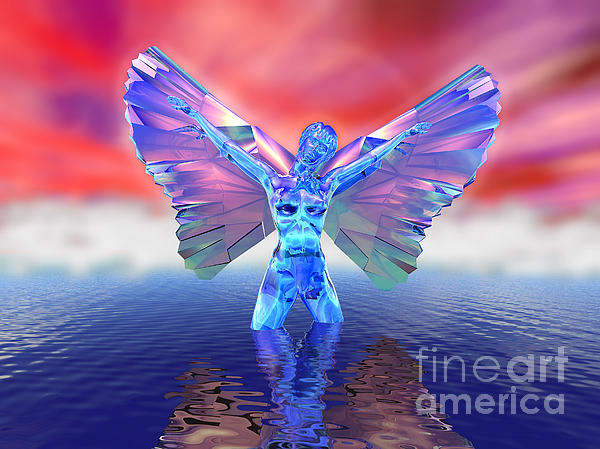 Angel On The Water Print by Ricky Schneider