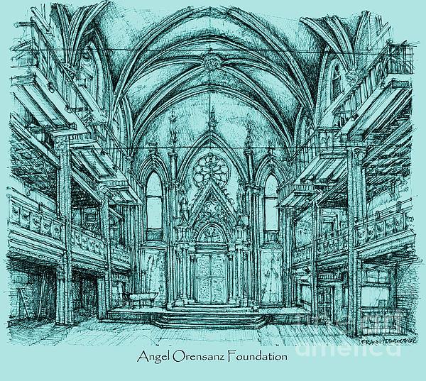Angel Orensanz In Blue Print by Lee-Ann Adendorff
