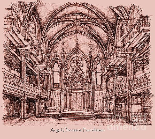 Angel Orensanz In Dark Pink Print by Lee-Ann Adendorff
