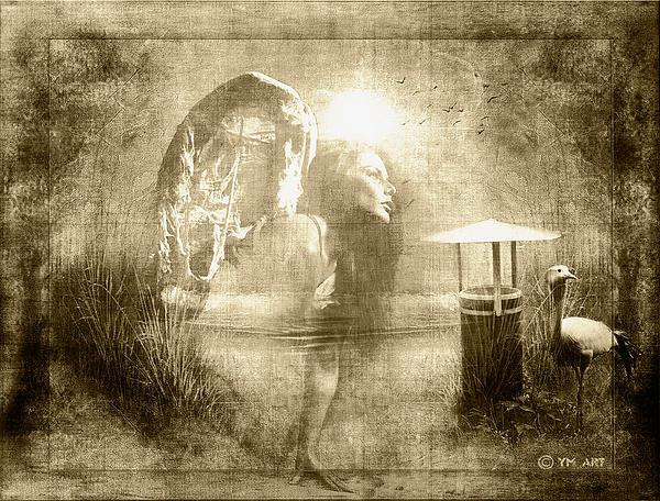Angel Spirit Sepia Print by Yvon van der Wijk