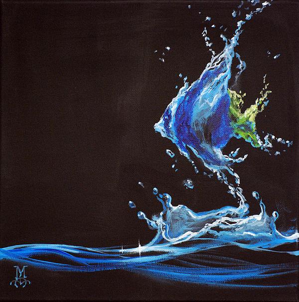 Angel Splash Print by Marco Antonio Aguilar