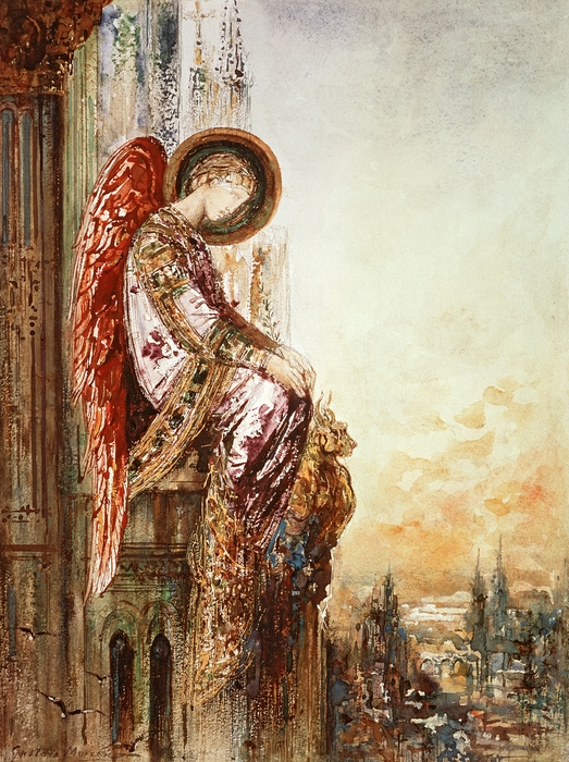 Angel Traveller Print by Gustave Moreau