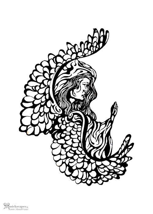 Angel Watching Print by Karen Musick