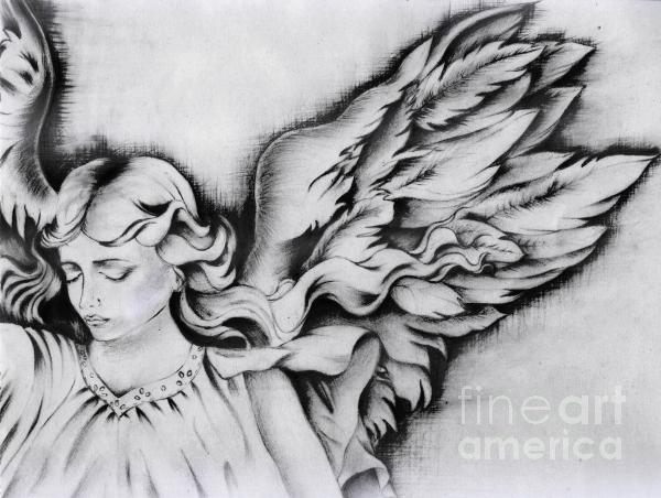 Angel Wings Drawing by Monica Magallon - Angel Wings Fine Art Prints ...