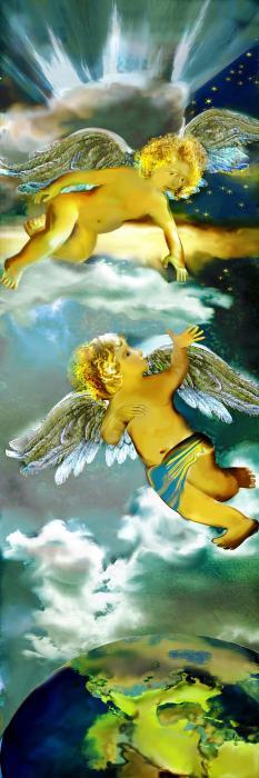 Angels In Heaven Print by Anne Weirich