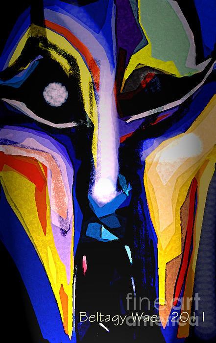 Anger Fcae Print by Beltagy Beltagyb