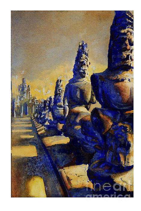 Angkor Wat Ruins Print by Ryan Fox