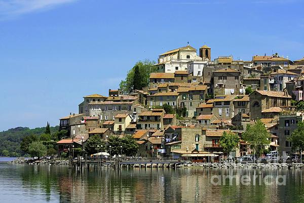 Bracciano Italy  city photo : Anguillara Sabazia On Bracciano Lake Italy Print by EZeePics