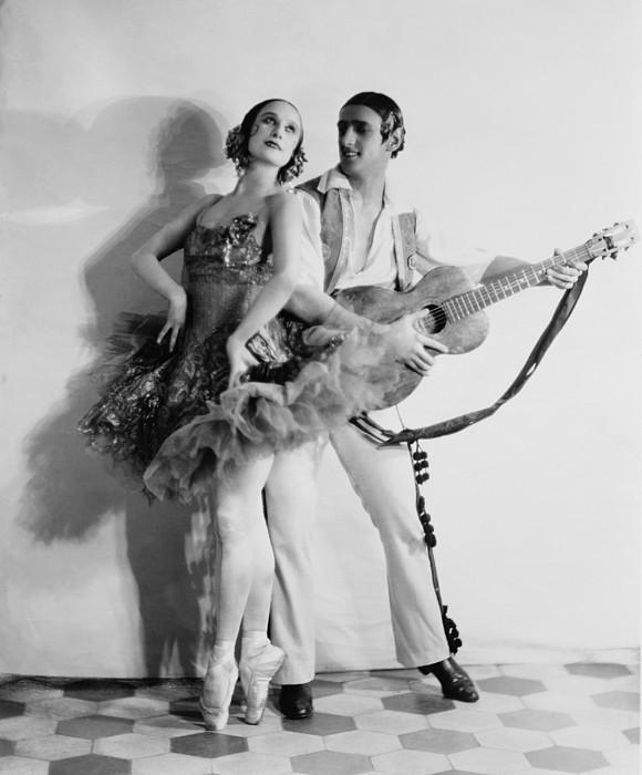 Anna Pavlova 1885-1931 Dancing Partner Print by Everett
