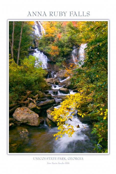 Anna Ruby Falls Print by Peter Muzyka