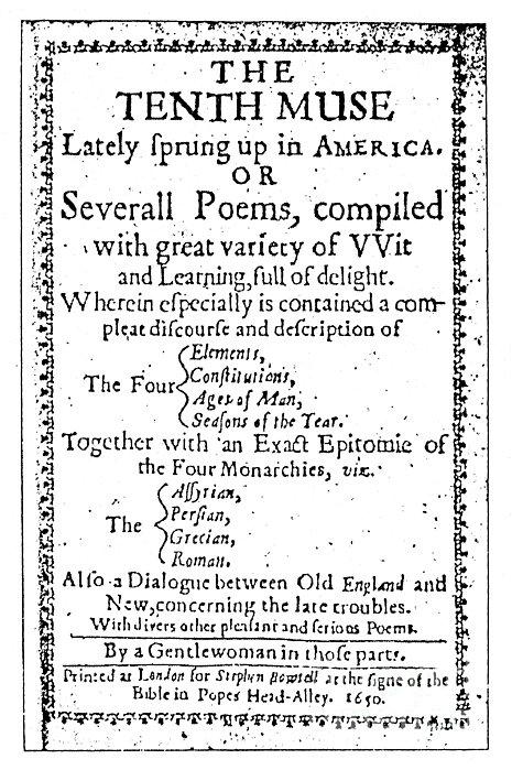 Anne Bradstreet Title-page Print by Granger