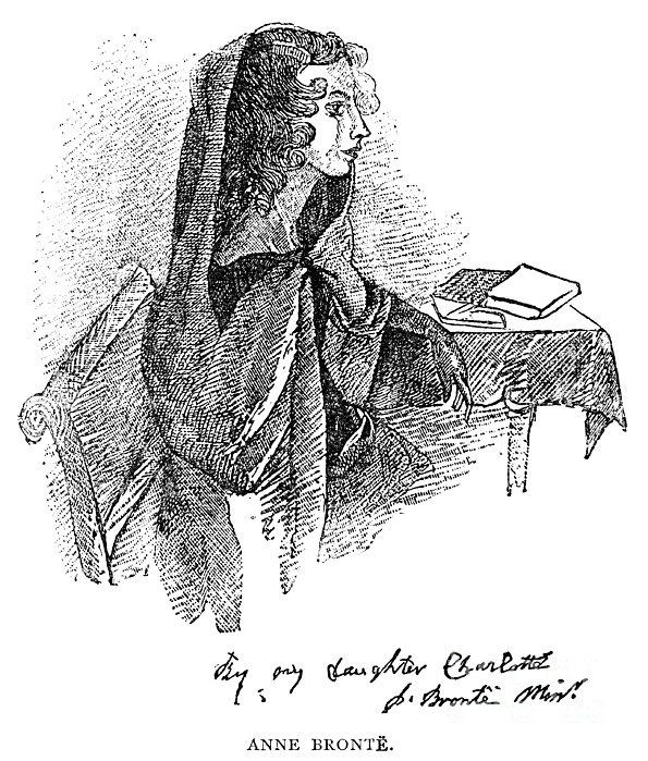 Anne Bront� (1820-1849) Print by Granger