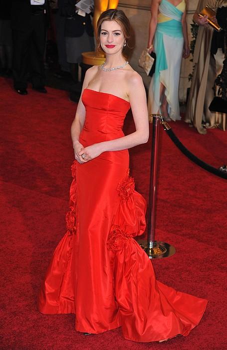 Anne Hathaway Wearing Valentino Dress Print by Everett