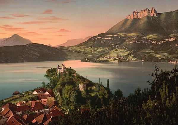 Annecy France - Chateau De Duingt Print by International  Images