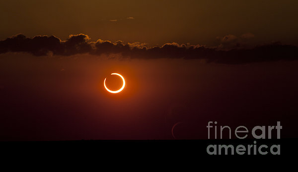 Annular Solar Eclipse Print by Phillip Jones