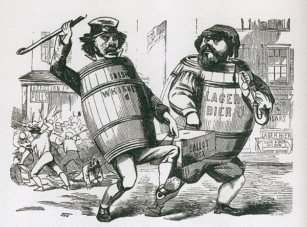 Anti-immigrant Cartoon Showing Two Men Print by Everett
