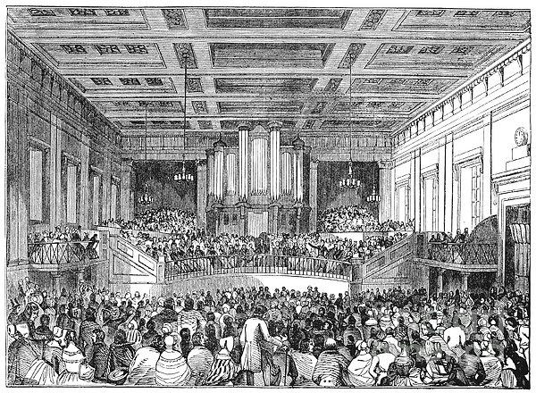 Anti-slavery Meeting, 1842 Print by Granger