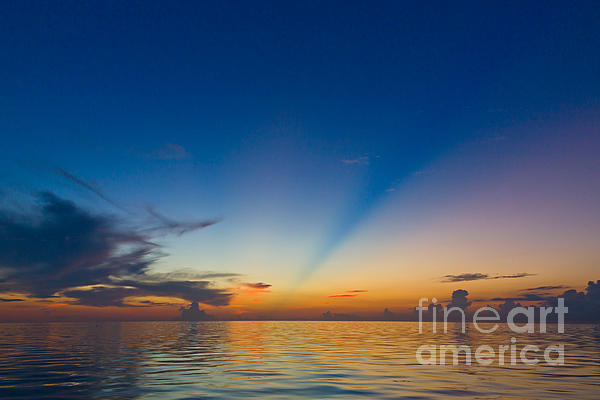 Anticrepuscular Rays Print by Jen TenBarge