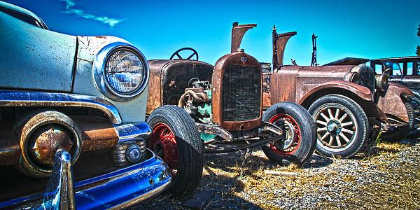 Antique Auto Sales Print by Steve McKinzie