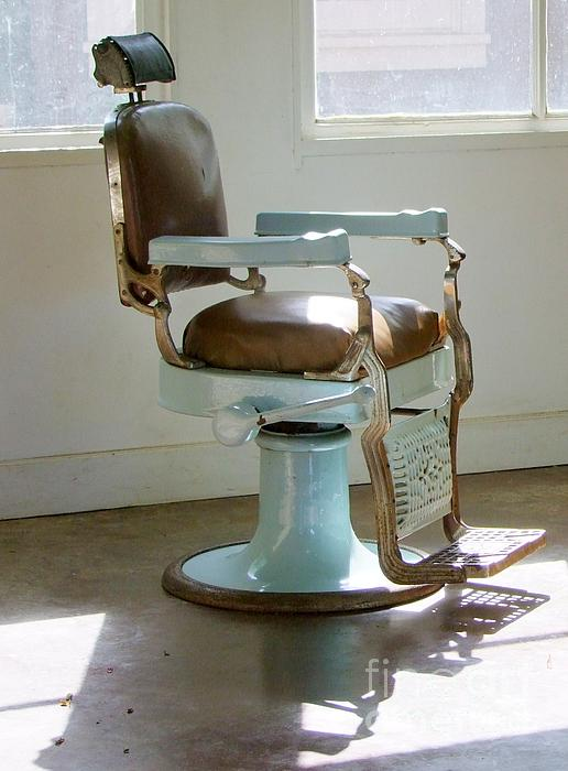 Antique Barber Chair Print by Mary Deal