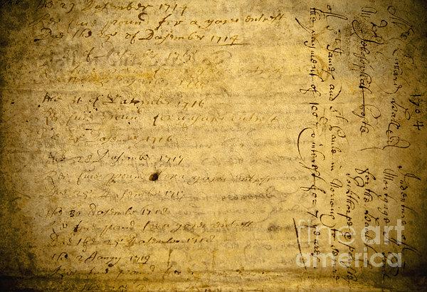 Antique Document Print by Dave & Les Jacobs
