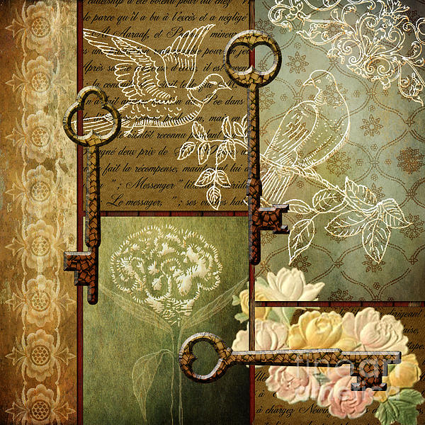 Antique key 39 s by judy brand for Antique key art