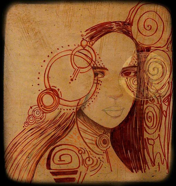 Jen Lester - Antiqued Edition Sketch