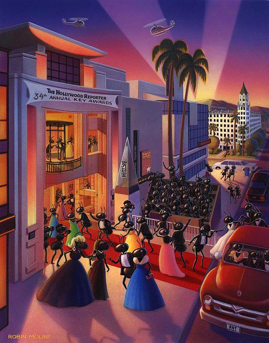 Ants Awards Night Print by Robin Moline