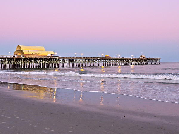 Apache Pier Sunset Print by Eve Spring