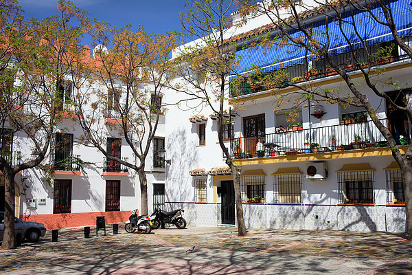 Apartment Houses In Marbella Print by Artur Bogacki