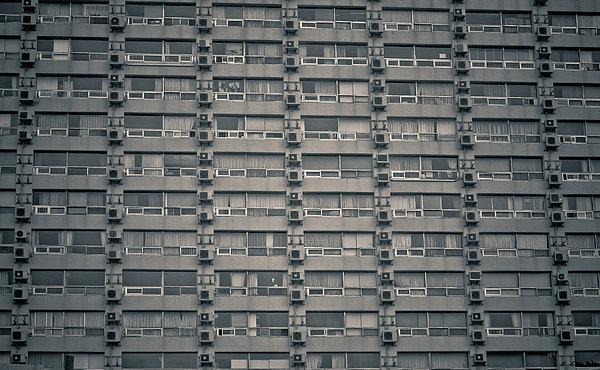 Apartment Windows Print by Tomomi