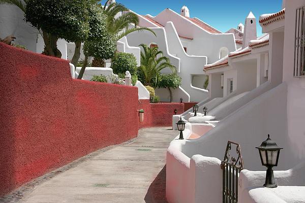 Apartments San Blas Tenerife Print by Aleck Rich Seddon