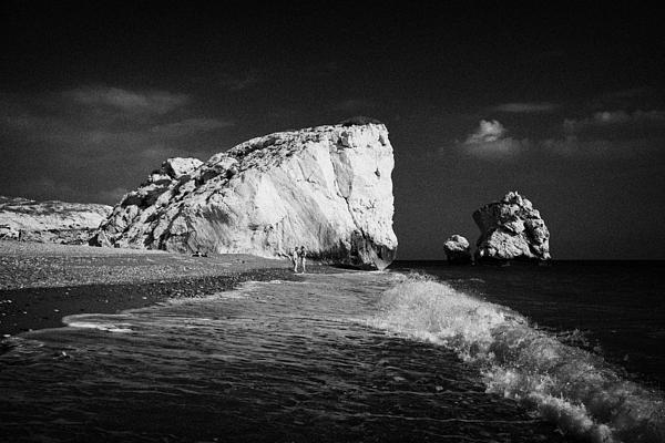 Aphrodites Rock Petra Tou Romiou Republic Of Cyprus Europe Print by Joe Fox