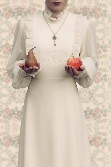 Apple And Pear Print by Joana Kruse
