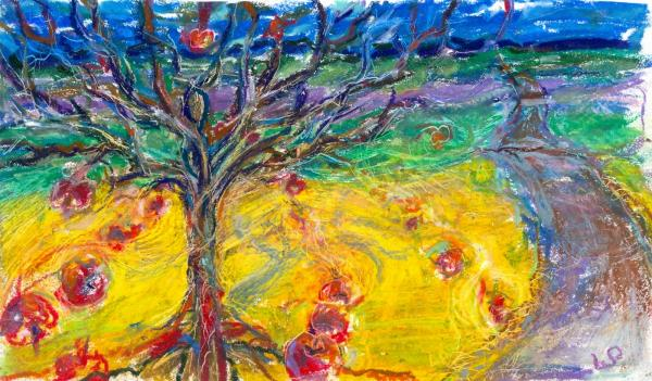 Apple Tree Painting  - Apple Tree Fine Art Print