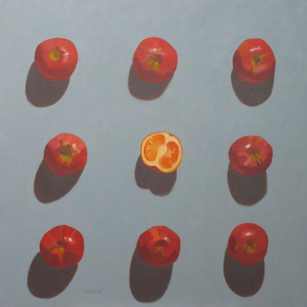 Apples And Orange Print by John Holdway
