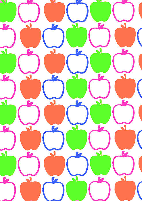 Apples Print by Louisa Knight