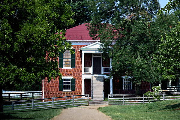Appomattox County Court House 1 Print by Teresa Mucha