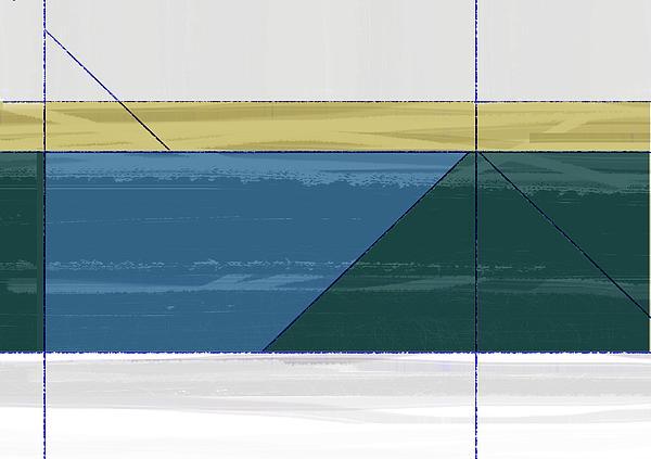 Aqua Green Triangles Print by Naxart Studio