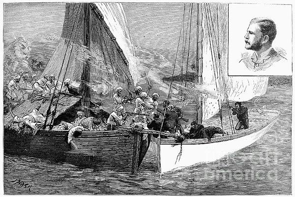 Arab Slave Trade, 1887 Print by Granger