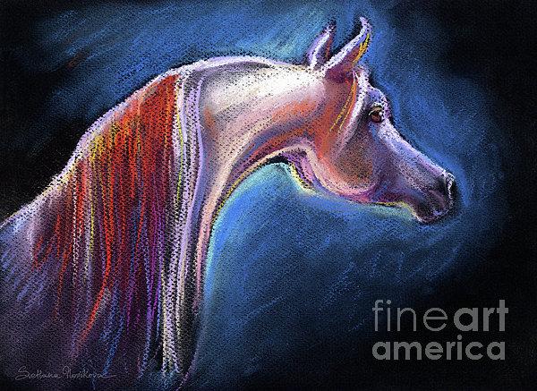 Arabian Horse Equine Painting Print by Svetlana Novikova