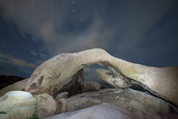 Arch Rock With Stars, Joshua Tree National Park Print by Daniel Osterkamp