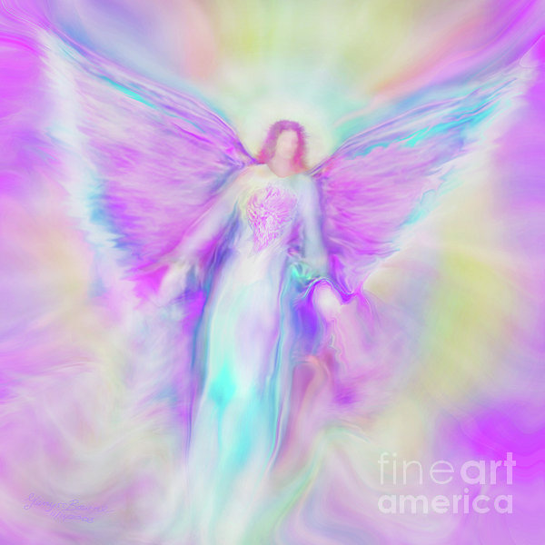 Archangel Raphael In Flight Painting  - Archangel Raphael In Flight Fine Art Print