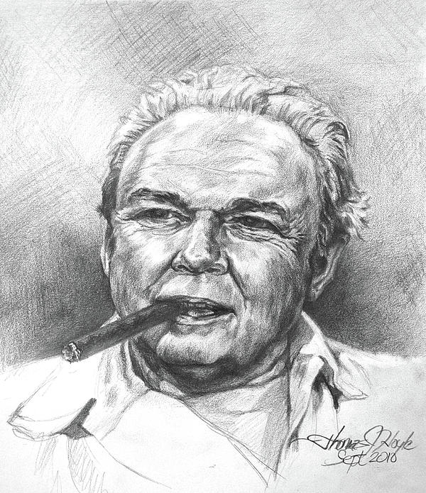 Archie Bunker Carroll Oconnor Drawing